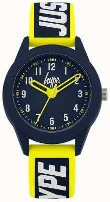 Hype | gelb / blaues Silikonband | Marine Zifferblatt | HYK004YU