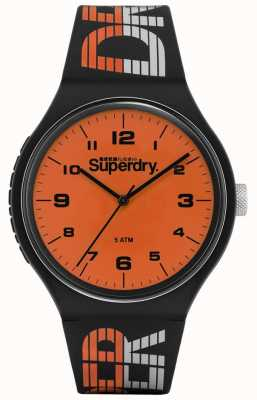 Superdry | Urban XL Racing | blaues mehrfarbiges Silikon | orange di SYG269BO