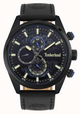 Timberland | Outdoor-Suchende | schwarzes Lederband | schwarz / blaues Zifferblatt | 15953JSB/02
