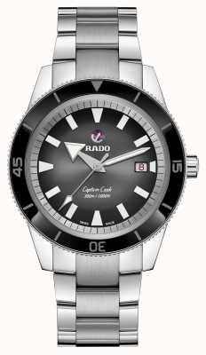 Rado Xl 'Captain Cook' automatisches schwarzes Zifferblatt R32105153
