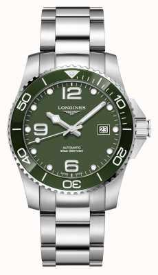 Longines Hydroconquest 41mm automatisch | grünes Zifferblatt | rostfreier Stahl L37814066