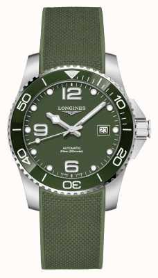 Longines Hydroconquest 41mm | grünes Zifferblatt | Gummiband L37814069