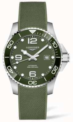 Longines Hydroconquest 43mm | grünes Zifferblatt | Gummiband L37824069