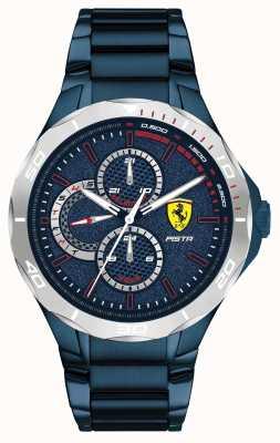 Scuderia Ferrari | Männerpista | blaues ionenbeschichtetes Stahlarmband | blaues Zifferblatt 0830759