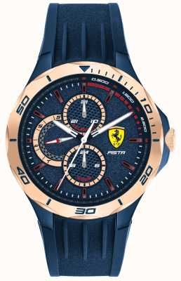 Scuderia Ferrari | Männerpista | blaues Kautschukband | blaues Zifferblatt | 0830724