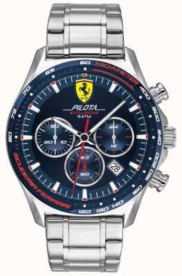 Scuderia Ferrari | Männerpilota evo | Edelstahlarmband | blaues Zifferblatt 0830749