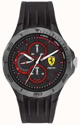 Scuderia Ferrari | Männerpista | schwarzes Kautschukband | schwarzes Zifferblatt 0830725