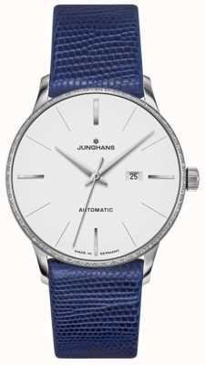 Junghans Meister Damen Automatik blaues Leder 027/4046.00