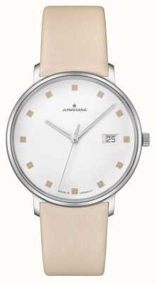 Junghans Form damen Datum Fenster Lederband 047/4860.00