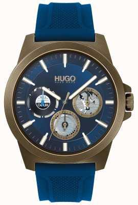 HUGO #twist | blaues Kautschukband | blaues Zifferblatt 1530130