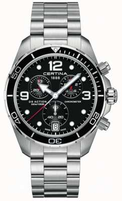 Certina Ds action chrono | Chronometer | Edelstahlarmband C0324341105700