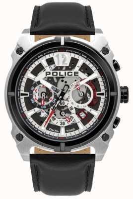 Police Herrenantrim | Chronograph | schwarzes Lederband 16020JSTB/04