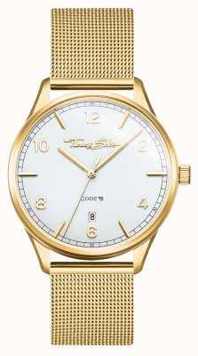 Thomas Sabo | Glamour und Seele goldenes Netzarmband für Damen | weißes Zifferblatt WA0361-264-202-36