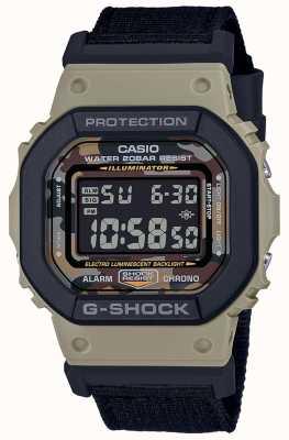 Casio G-Schock | schwarzer Riemen | digital | Stoppuhr DW-5610SUS-5ER