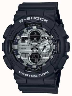 Casio | g-schock Weltzeit | schwarzer Gummi | schwarzes Zifferblatt GA-140GM-1A1ER