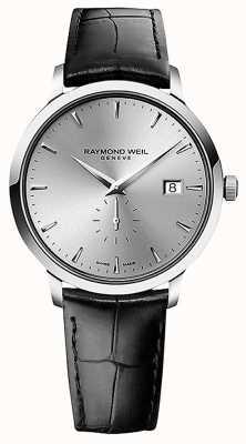 Raymond Weil Männer | toccata | schwarzes Lederband | silbernes Zifferblatt 5484-STC-65001