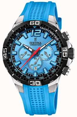 Festina Chrono Fahrrad 2020 blaues Zifferblatt blaues Armband F20523/8