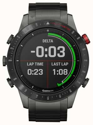 Garmin Marq Fahrer | Titan / Silikon-Armband und schwarzes Gummiband 010-02006-01