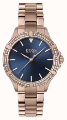 BOSS | Frauen Minisport | Roségold Armband | blaues Zifferblatt 1502468
