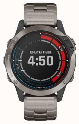 Garmin Quatix 6 Saphir | titangraues Armband GPS Marineuhr 010-02158-95