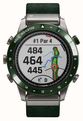 Garmin Marq Golfer   grünes Nylonband und kieferngrünes Kautschukband 010-02395-00