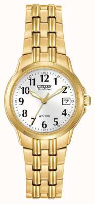 Citizen Damen Silhouette Sport Eco-Drive Gold IP-Uhr EW1542-59A