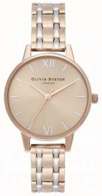 Olivia Burton | die england sammlung | zweifarbiges Stahlarmband | OB16EN02