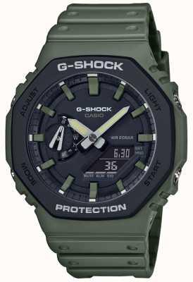 Casio G-Schock | Kohlenstoffkern | grünes Kautschukband | Digitaler Bildschirm GA-2110SU-3AER