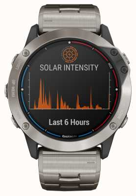Garmin Quatix 6x Solar Power Glas Titan Armband 010-02157-31