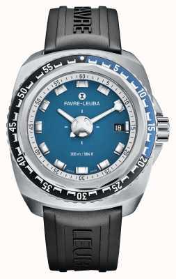 Favre Leuba Raider tiefblau 41 | schwarzes Kautschukband | blaues Zifferblatt | 00.10106.08.52.31
