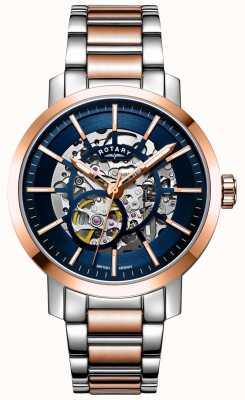 Rotary Greenwich g2 automatisch | zweifarbiges Armband | Skelettzifferblatt GB05352/05