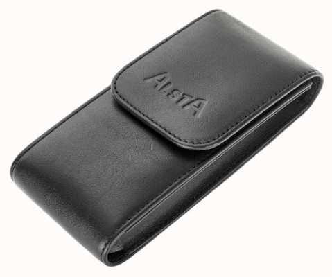 Alsta Nur italienische Aufbewahrungstasche aus schwarzem Leder ALSTA-POUCH