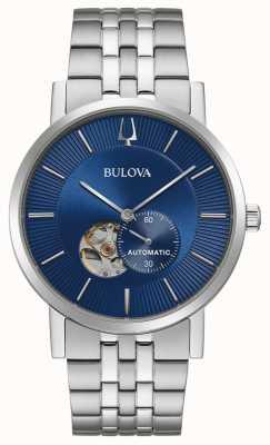 Bulova Amerika Clipper | automatisch | blaues Zifferblatt | rostfreier Stahl 96A247