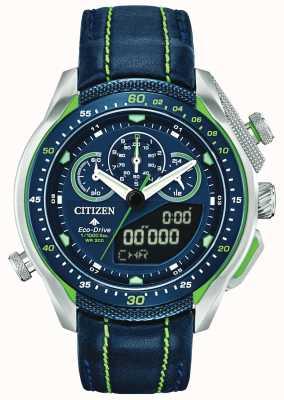 Citizen Promaster sst | Weltzeit | blaues Lederband JW0138-08L