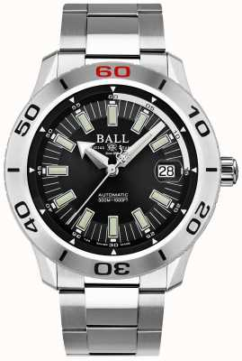 Ball Watch Company Feuerwehrmann schwarz necc | Edelstahlarmband | schwarzes Zifferblatt DM3090A-S3J-BK