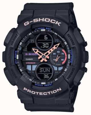 Casio G-Schock Unisex mehrfarbiges Zifferblatt | schwarzer Riemen GMA-S140-1AER
