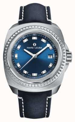 Favre Leuba Raider Seekönig | blaues Zifferblatt | blaues Antilopenleder 00.10107.08.51.46