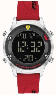 Scuderia Ferrari Männer Digitrack | rotes Kautschukband | schwarzes digitales Zifferblatt 0830757