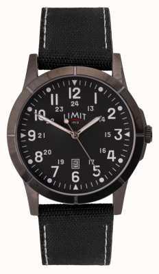 Limit Schwarzes Canvas-Armband für Herren | schwarzes Zifferblatt | Legierungsgehäuse 5791.01