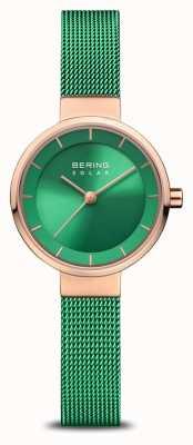 Bering Frauenhilfswerk | polierte / gebürstete Rose | grünes Netzband 14627-CHARITY