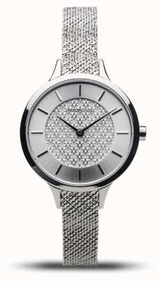 Bering Frauenklassiker | poliertes Silber | silbernes Netzarmband 17831-000
