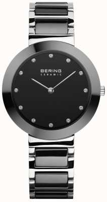 Bering Damenkeramik | schwarzes Keramikarmband | schwarzes Zifferblatt 11434-742