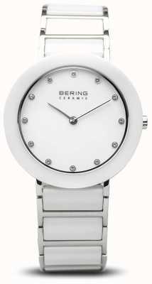 Bering Damenkeramik | weißes Keramikarmband | weißes Zifferblatt 11434-754