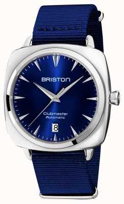 Briston Clubmaster ikonisches Auto | blauer nato riemen | blaues Zifferblatt 19640.PS.I.9.NNB