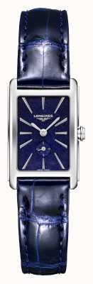 Longines Dolce vita   Frauen   Schweizer Quarz   blaues Leder L52554932