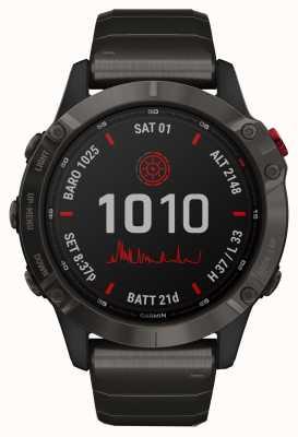 Garmin Fenix 6 pro solar | Titan Carbon Grau DC Armband 010-02410-23