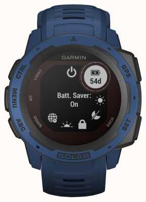 Garmin Instinkt Solar GPS Gezeiten blau Kautschukband 010-02293-01