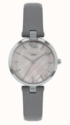 Radley Westansicht | graues Lederband | silbernes Zifferblatt RY2969