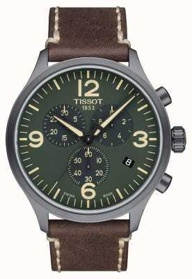 Tissot Chrono xl | grünes Zifferblatt | braunes Lederband T1166173609700