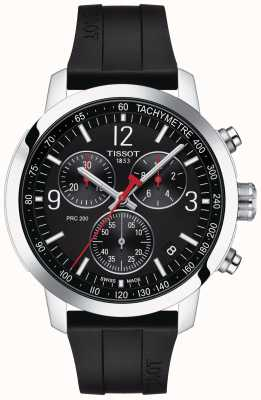 Tissot Prc 200 | Chronograph | schwarzes Zifferblatt | schwarzes Kautschukband T1144171705700